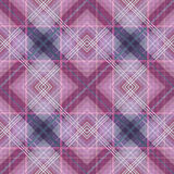 Seamless retro textile tartan checkered plaid pattern background Royalty Free Stock Photo