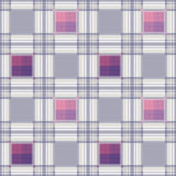 Seamless retro textile tartan checkered texture plaid pattern ba Stock Photography