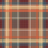 Seamless retro textile tartan checkered texture plaid pattern te Stock Image