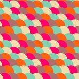 Seamless retro texture. With circles Royalty Free Stock Photography