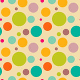 Seamless retro texture. With circles Stock Photos