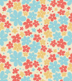 Seamless retro texture with flowers. Endless floral pattern. Seamless vintage background can be used for wallpaper, pattern royalty free stock photo
