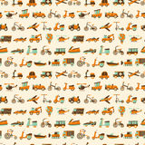 Seamless retro transport pattern Royalty Free Stock Photo