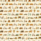 Seamless retro transport pattern Royalty Free Stock Photo