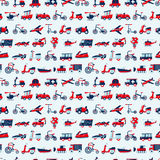 Seamless retro transport pattern Stock Image