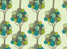 Seamless retro tree pattern with forest Stock Photo
