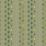 Seamless retro wallpaper. With a diamons and squares pattern Stock Images
