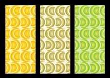 Seamless Retro Wallpaper. Stylish retro 70s pattern in 3 different colours Stock Photos