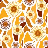 Seamless Retro Wallpaper Royalty Free Stock Photography