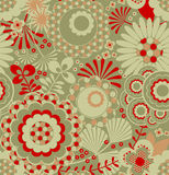 Seamless retro wallpaper pattern Royalty Free Stock Photography