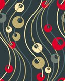 Seamless retro wallpaper pattern Stock Photos
