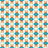 Seamless retro wallpaper pattern. Pattern with abstract ditsy flowers in teal colors. Seamless vector background. Retro wallpaper pattern stock illustration