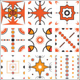 Seamless Retro Wallpaper Pattern Tile Vector Collection royalty free illustration