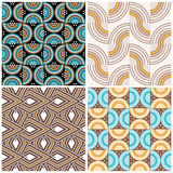 Seamless retro wallpaper tiles Stock Image