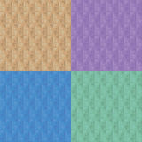 Seamless Retro Wallpaper Variations Stock Photography
