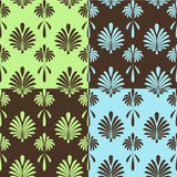 Seamless retro wallpapers Royalty Free Stock Images