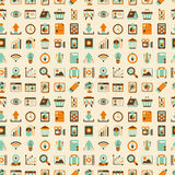 Seamless retro web pattern Stock Image