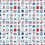 Seamless retro web pattern Royalty Free Stock Photo
