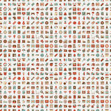 Seamless retro web pattern Stock Photography