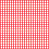 Seamless retro white-red square tablecloth Stock Photos