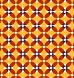 Seamless retro yellow pattern. Royalty Free Stock Photos