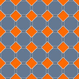 Seamless rhomb pattern with 3d effect Stock Images