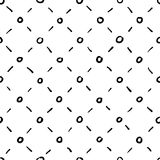 Seamless rhombic black and white background Stock Image