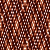 Seamless rhombic pattern in brown Stock Image