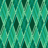 Seamless rhombic pattern in Emerald Royalty Free Stock Images