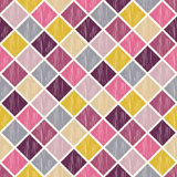 Seamless rhombus fabric pattern Stock Photography