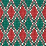 Seamless Rhombus knitting pattern Stock Photos