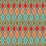Seamless Rhombus knitting pattern Royalty Free Stock Photography