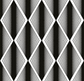 Seamless rhombus pattern, abstract geometric black and white bac Royalty Free Stock Photography
