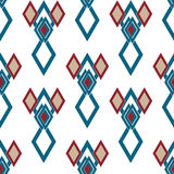 Seamless rhombus retro colors pattern background geometric abstr Royalty Free Stock Photography