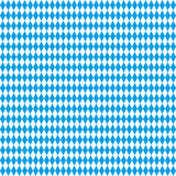 Seamless Rhombus Structure Bavarian National Colors Stock Photography