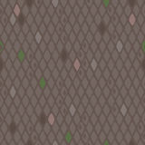 Seamless Rhombuses background - brown color. Seamless Rhombus abstract background in brown color with several different colored elements royalty free illustration