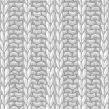 Seamless Ribbing Stitch pattern. Royalty Free Stock Photo