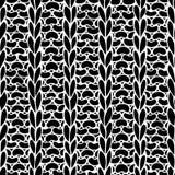 Seamless Ribbing Stitch silhouettes pattern. Stock Photos