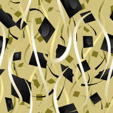 Seamless ribbon graduation background