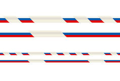 Seamless ribbon with Russian tricolor Royalty Free Stock Photo