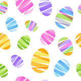 Seamless ribbon-wrapped Easter eggs pattern. Decorative texture. Good for Easter design Royalty Free Stock Photos