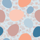 Seamless ribbon-wrapped Easter eggs pattern Stock Photography