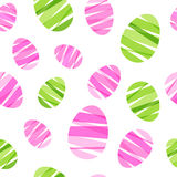 Seamless ribbon-wrapped Easter eggs pattern. Royalty Free Stock Photography