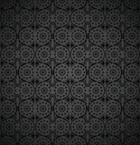 Seamless-Rich wallpaper in black Royalty Free Stock Images