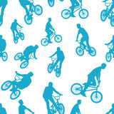 Seamless ride bicycle pattern background vector Royalty Free Stock Photo
