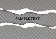 Seamless ripped paper and transparent background with space for text, vector art and illustration. stock illustration