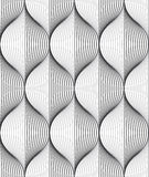 Seamless ripple pattern. Trendy vector texture. Stylish background with diagonal direction Stock Photos