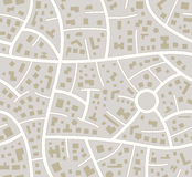 vector seamless road city map Royalty Free Stock Photo