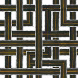 Seamless road pattern Stock Photos
