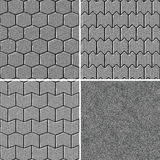 Seamless road pavement pattern Royalty Free Stock Image